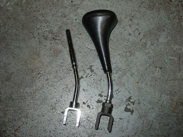 A w124 shift knob shaft replacement with oem c280 for Mercedes benz shift knob replacement